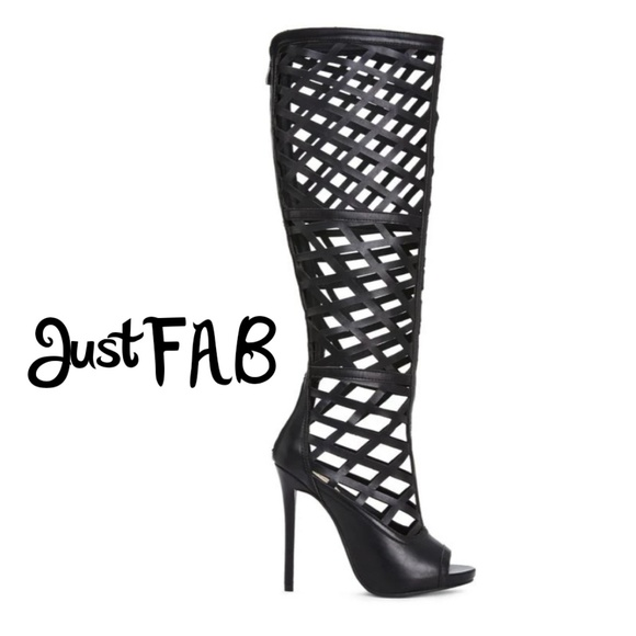 420ced31fa4 JustFab Shoes - 🌹5  25 JustFAB knee high caged boots
